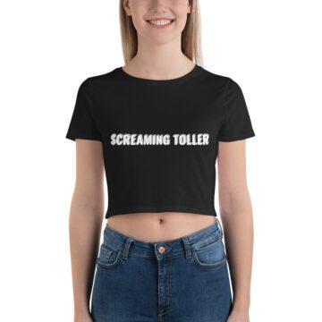 Screaming Toller Crop Tee - Black